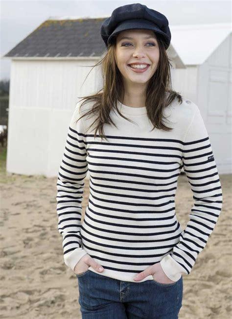 Kitako 2in1 Set Jumper Navy s wool striped breton jumper navy blue knit breton sweater