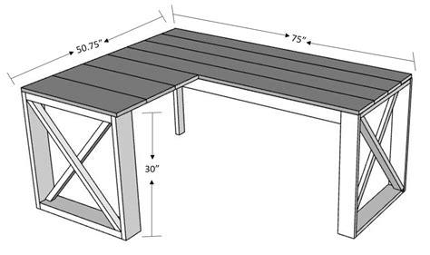 diy l shaped desk l shaped x desk handmade