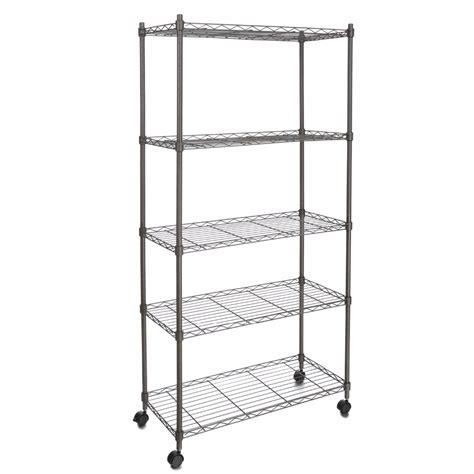 homdox classic metal  shelf wire shelving rack shelves