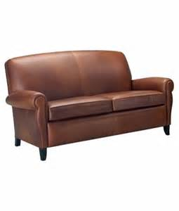 Apartment Size Leather Sofa Leather Tight Back Apartment Size Studio Sofa W Rolled Arms