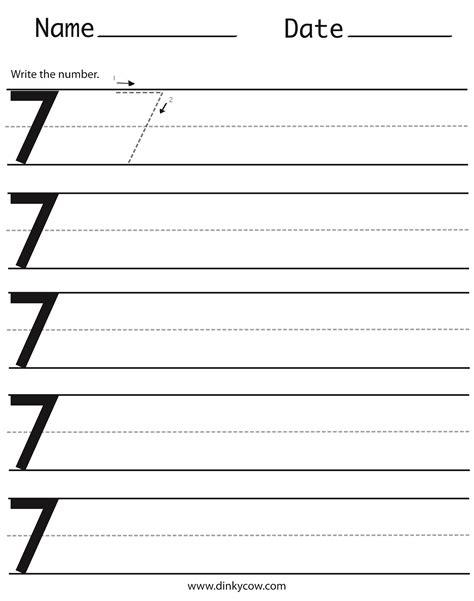 number 7 worksheets number 7 tracing worksheets for preschool craftsactvities and worksheets for preschooltoddler