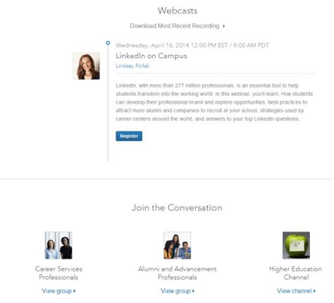 Linkedin Webinar Mba Internship by Linkedin Resources For College Students Career Sherpa