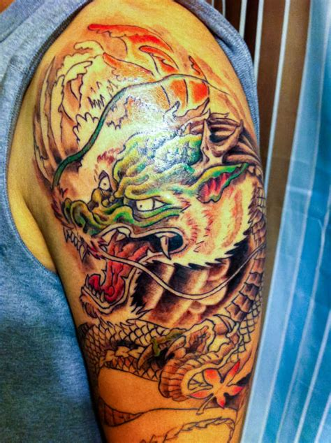 japanese tattoo near me traditional japanese dragon half sleeve tattoo