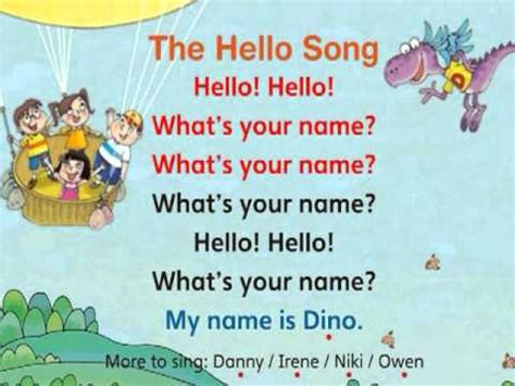 greeting song the hello song
