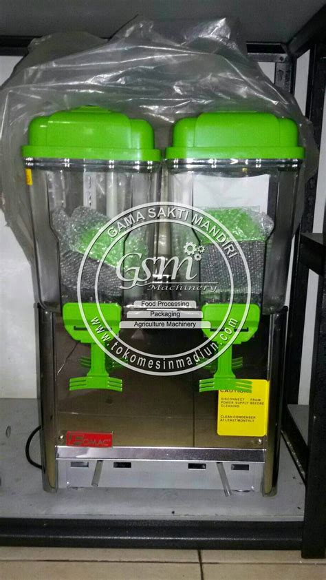 Dispenser Jus mesin dispenser jus 2 tabung toko mesin gama sakti