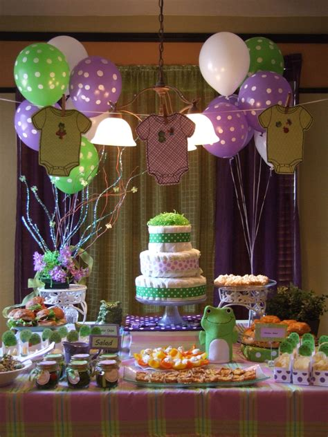 Baby Shower Decorations Purple And Green by Katy S Baby Shower Green And Purple Baby Shower Ideas