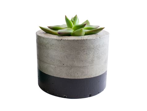 concrete planters paint dipped concrete planter pot black felt