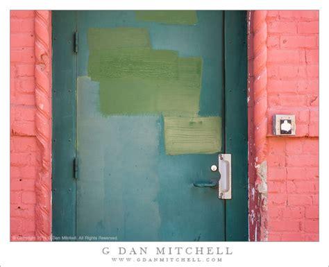 Sf Green Door by G Dan Mitchell Photograph Green Door Brick Wall San Francisco