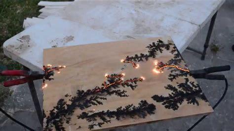 burning lichtenberg figures  wood youtube