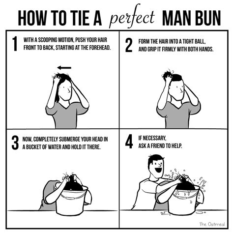 How To Make A Meme Comic With Your Own Picture - how to tie a perfect man bun the oatmeal