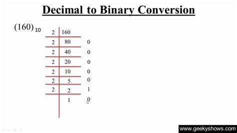 converter decimal to binary decimal to binary conversion hindi youtube