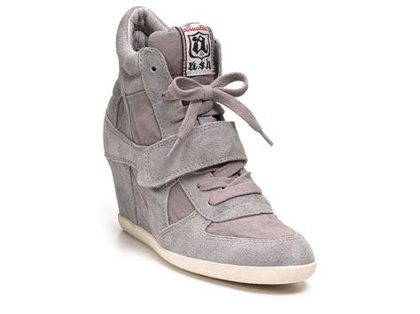 grey sneaker wedges ash wedges bowie sneakers in gray lyst