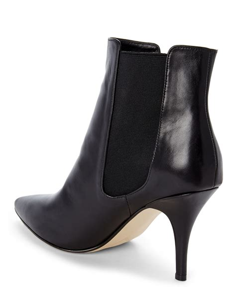 heeled chelsea boots lyst dune black nightlife heeled chelsea boots in black