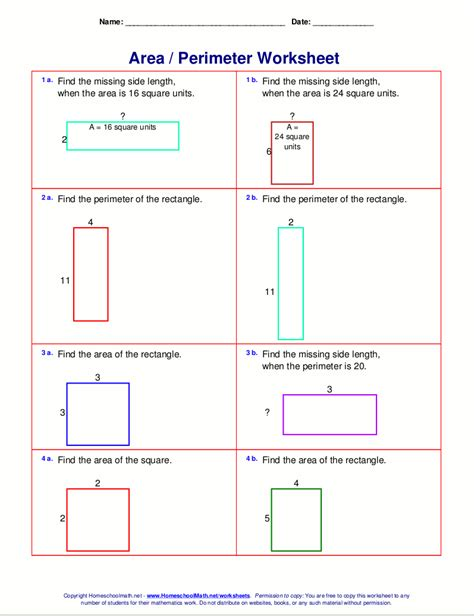 Area And Perimeter Worksheets Pdf by S Math News February 2015 Showing Work For Word