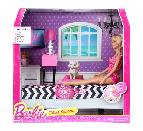 Barbie Kitchen Furniture by Buy Barbie Deluxe Bedroom With Doll Asst Cfb63 Online In