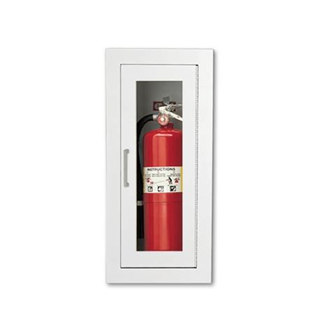 extinguisher cabinet glass requirements larsen s fully recessed extinguisher