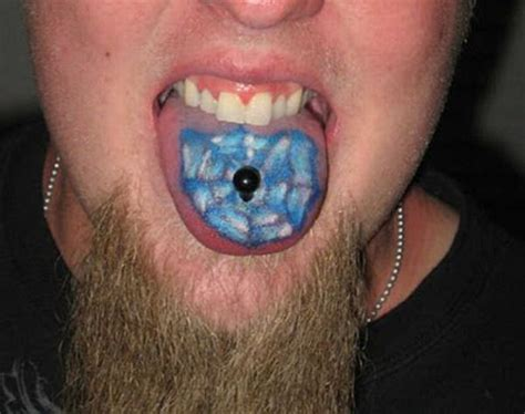 small weird tattoos tongue tattoos damn cool pictures