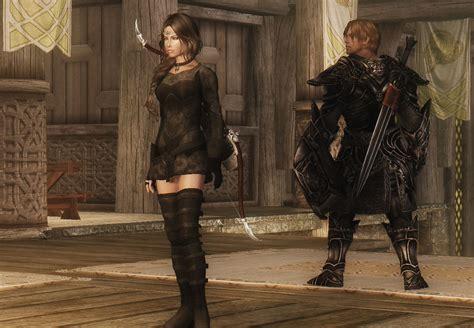 skyrim armor and clothing ashara elven archer armour revisited at skyrim nexus