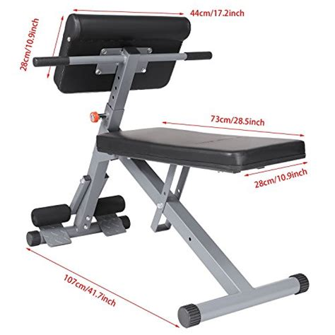 fitness gear ab bench ancheer roman chair hyperextension bench sit up bench