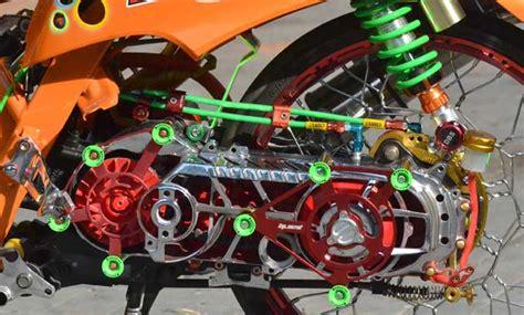 Modif Filter Udara Mio by 50 Gambar Modifikasi Mio Drag Road Race Keren Modif Drag