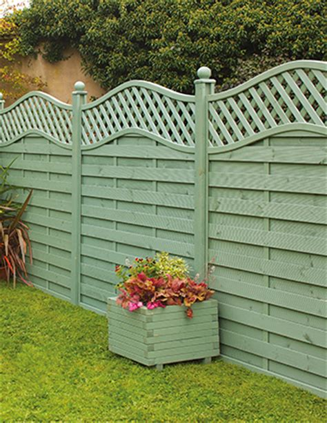st melior fence panel painted in green garden gardens fence design