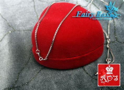 Kalung Perak Emas Putih Asli Import Korea Wg 195 Garansi 6 Bulan B kalung murah lucu korea wg 099 jewelryseeker ind