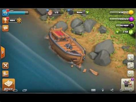 in clash of clans what is the boat for clash of clans mysterious boat youtube