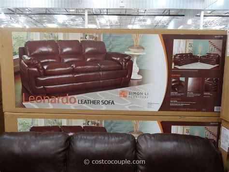 simon li leather sofa costco simon li leonardo leather sofa costco revistapacheco com