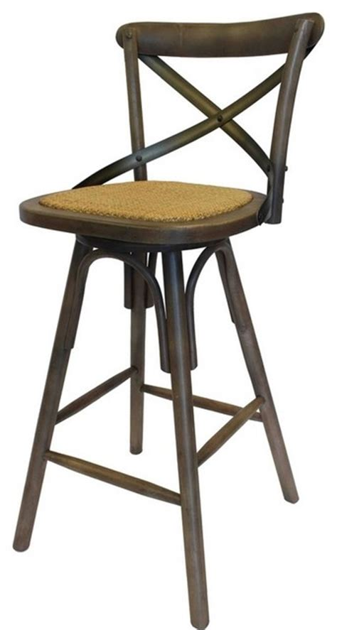 country kitchen stools vintage style cross back bar stool sundried country