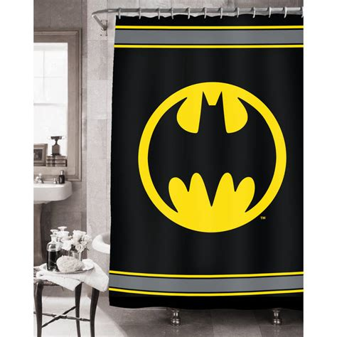 Amazon Com Batman Bathroom Set Shower Curtain Hooks Batman Bathroom Accessories