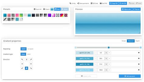 tools  generate css gradients web graphic