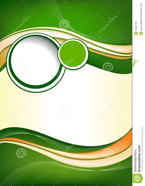 Background For Brochure Design by Abstract Green Background Design Stock Vector Image