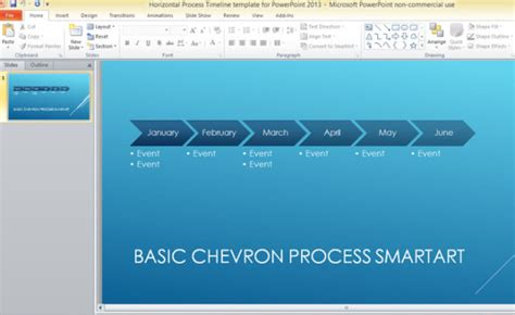 templates for powerpoint 2013 horizontal process timeline template for powerpoint 2013