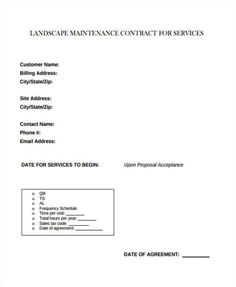 9 Maintenance Contract Templates Free Sle Exle Format Download Free Premium Templates Landscape Maintenance Contract Template