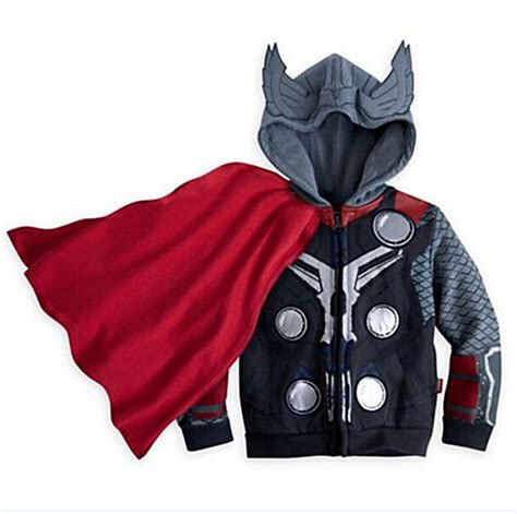 Hoodie Thor Wisata Fashion Shop 3 2016 new arrival boys everyday the thor coustome hoodie jacket 90 125cm in hoodies
