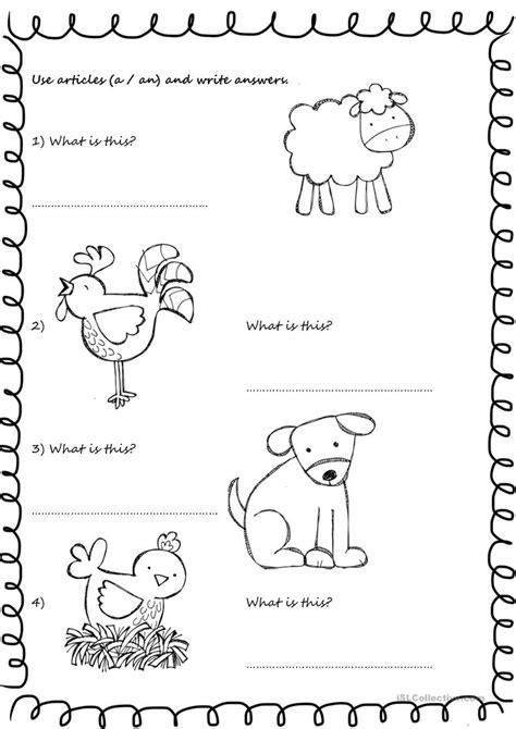 printable animal articles farm animals articles worksheet free esl printable
