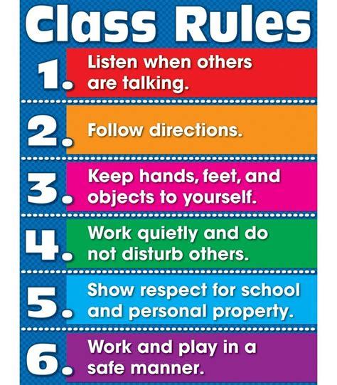 class rules chart grade k 5 carson dellosa publishing