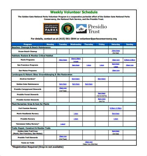meeting schedule template excel biweekly work schedule template