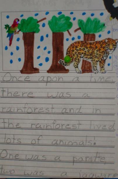 Sticker Story Kindergarten teaching blog addict sticker story writing