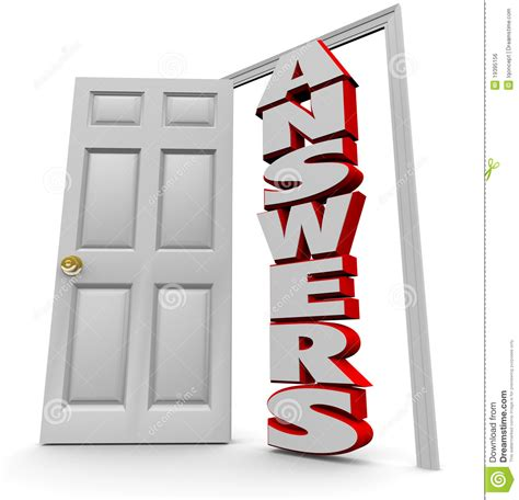 Answer The Door by Doorway To Answers Open Door To Answer Questions Royalty