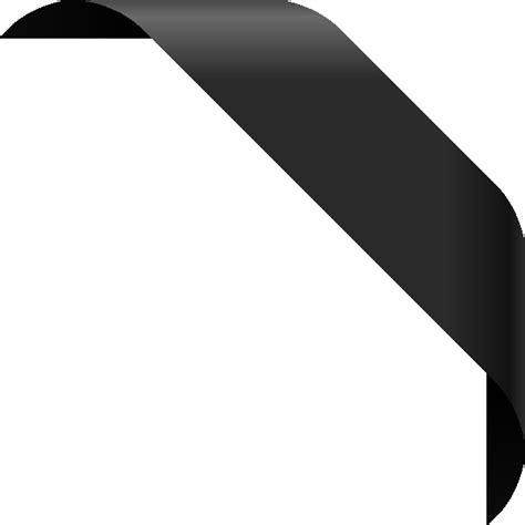 Black Corner by Corner Ribbon01 Black Vector Data Svg Vector