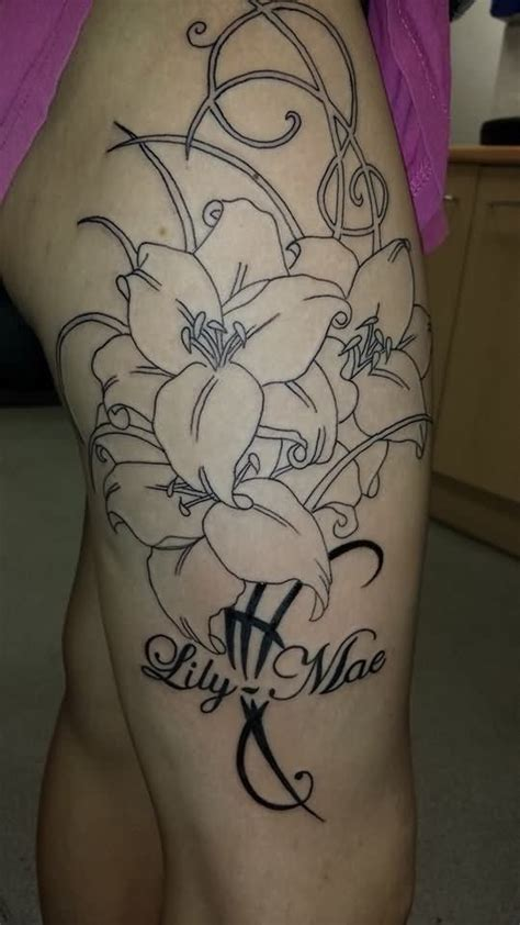 lily swirl tattoo designs 17 best ideas about flower tattoos on
