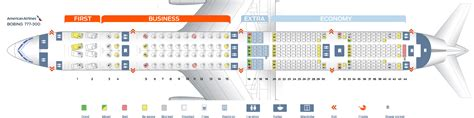 seating chart boeing 777 seat map boeing 777 300 quot american airlines quot best seats in