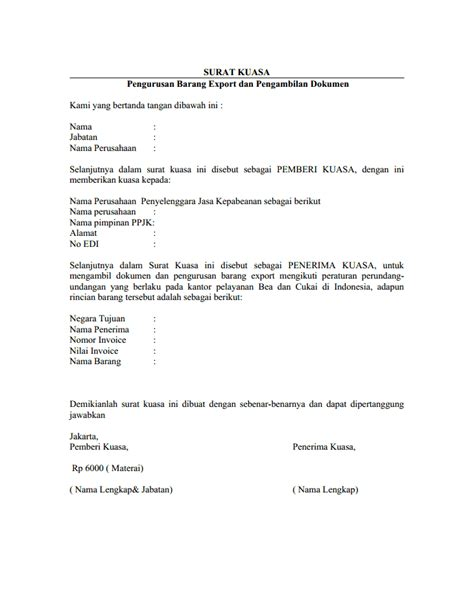 Contoh Surat Kuasa Pengambilan Dokumen by Contoh Surat
