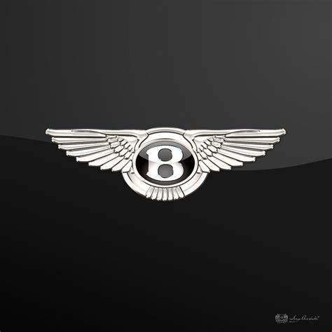 bentley logo black bentley 3 d badge on black photograph by serge averbukh