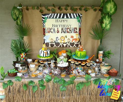 wild safari party and dessert table hedgehog lanethemed