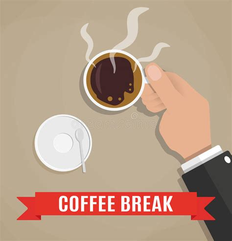 home design coffee break break for a cup of coffee stock vector image 67188187