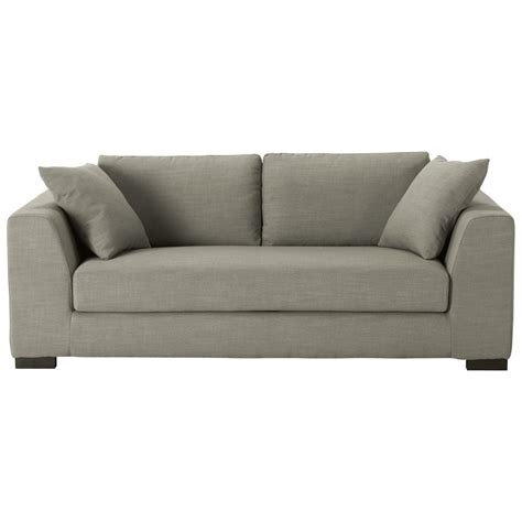 3 sitzer grau sofa 2 3 sitzer aus stoff grau terence maisons du monde