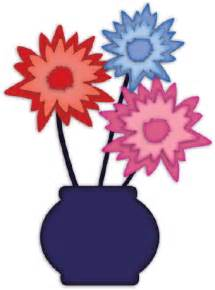 flowers in a vase clip