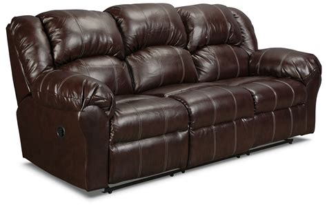 Decke Sofa by Decker Reclining Sofa Brown Levin Furniture
